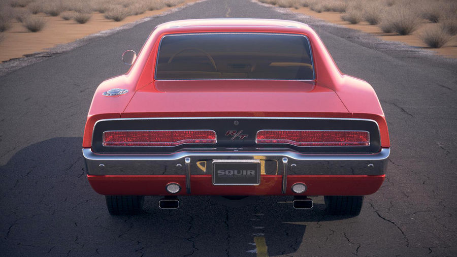Dodge Charger 1969 General Lee royalty-free 3d model - Preview no. 17