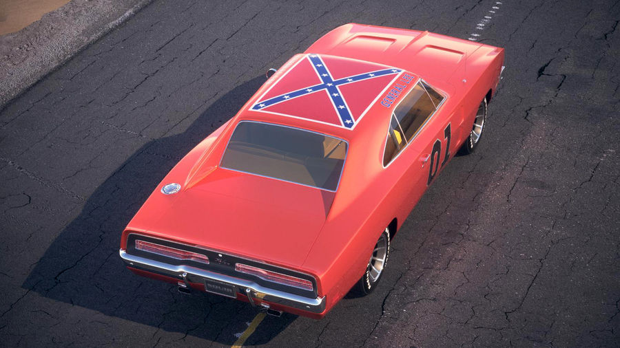 Dodge Charger 1969 General Lee royalty-free 3d model - Preview no. 13