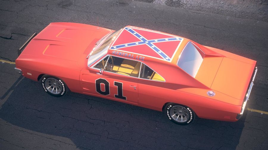 Dodge Charger 1969 General Lee royalty-free 3d model - Preview no. 14