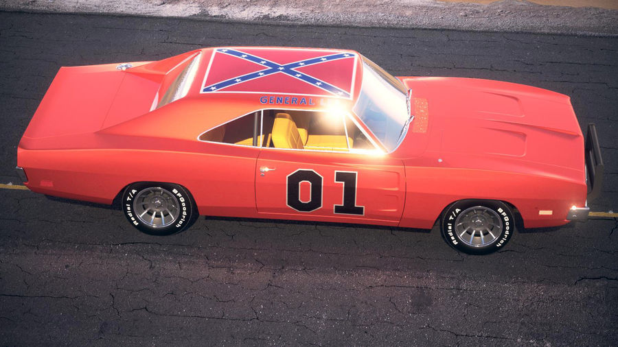Dodge Charger 1969 General Lee royalty-free 3d model - Preview no. 11