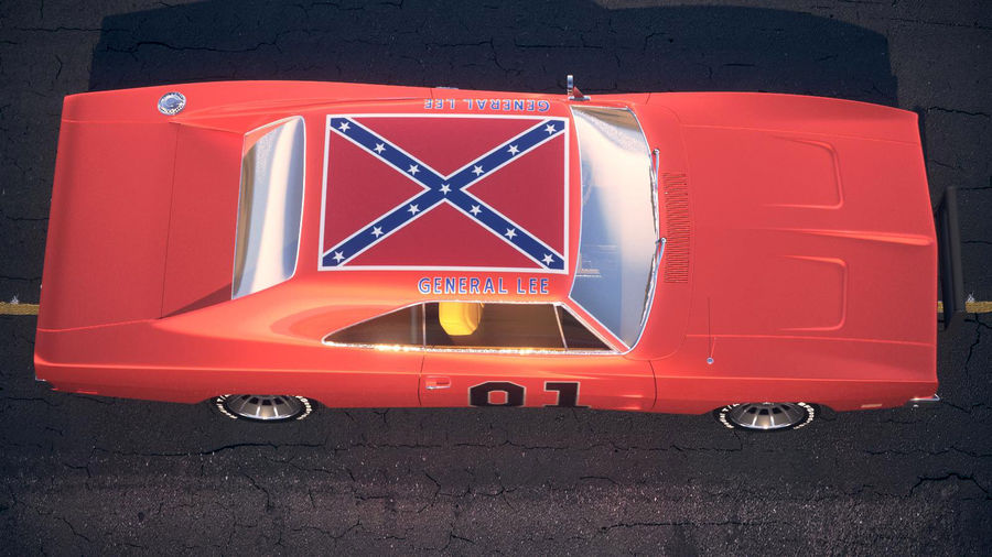 Dodge Charger 1969 General Lee royalty-free 3d model - Preview no. 12