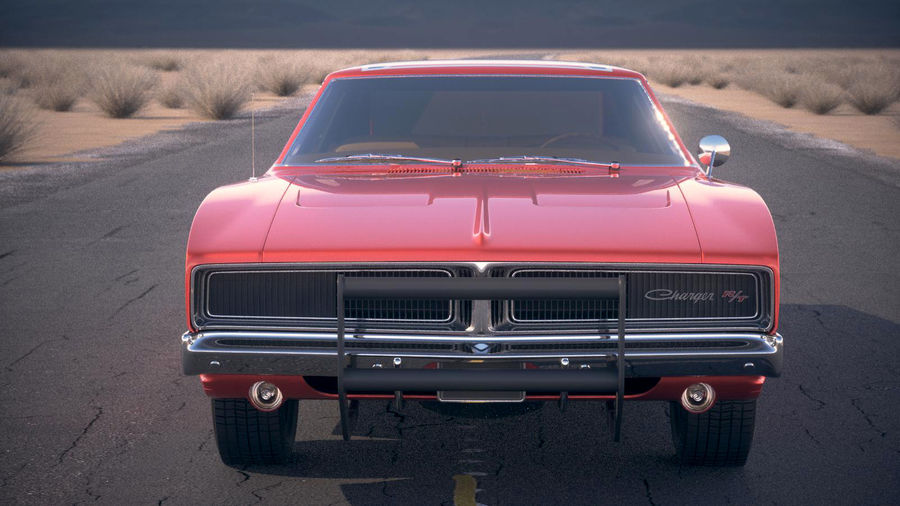 Dodge Charger 1969 General Lee royalty-free 3d model - Preview no. 16