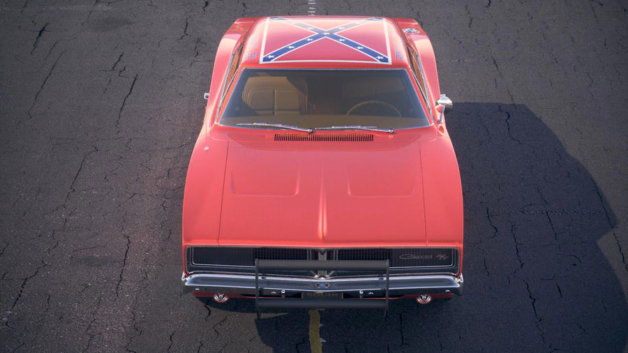 Dodge Charger 1969 General Lee royalty-free 3d model - Preview no. 15