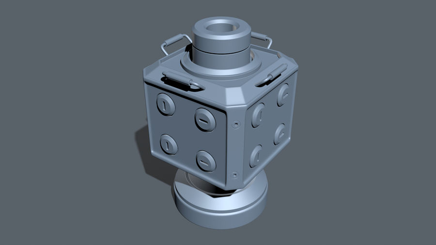 Scifi Container royalty-free 3d model - Preview no. 10