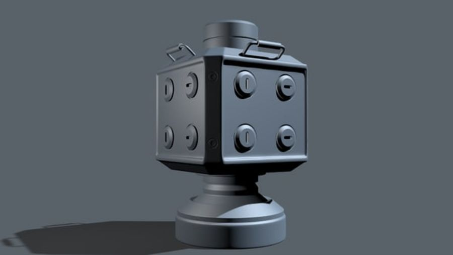 Scifi Container royalty-free 3d model - Preview no. 6