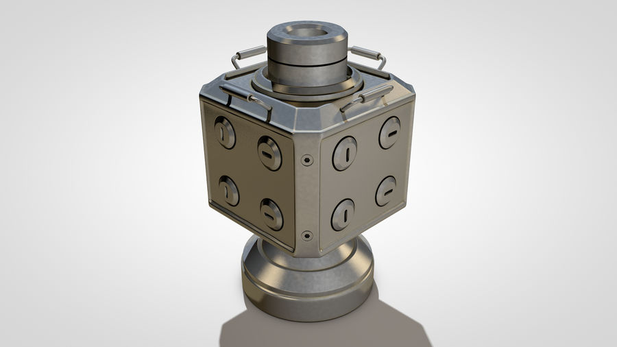 Scifi Container royalty-free 3d model - Preview no. 8