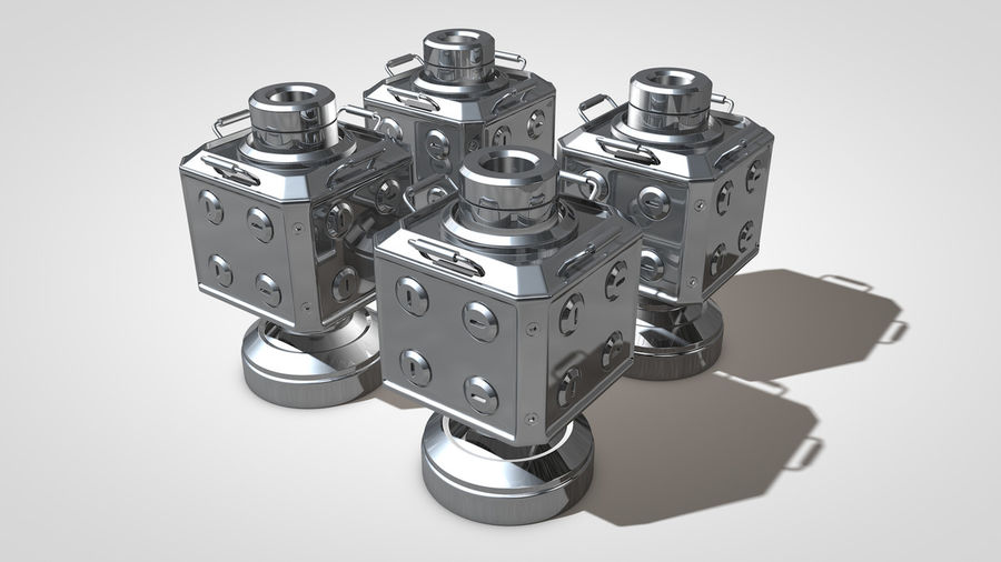 Scifi Container royalty-free 3d model - Preview no. 2