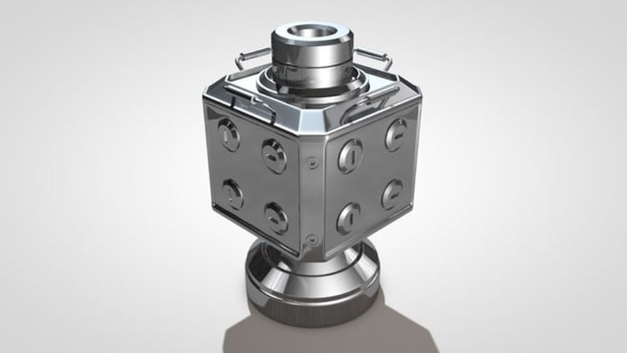 Scifi Container royalty-free 3d model - Preview no. 4