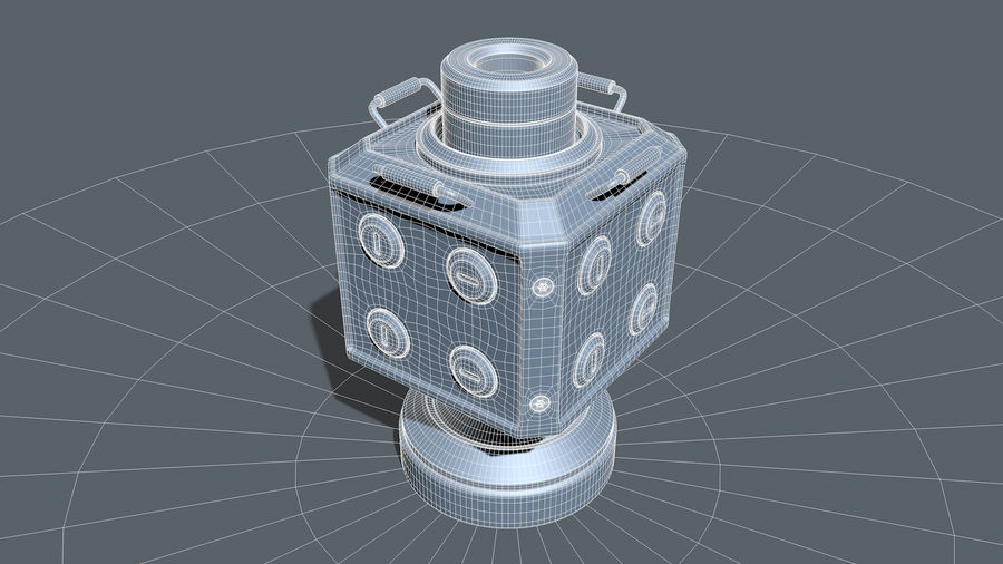 Scifi Container royalty-free 3d model - Preview no. 11