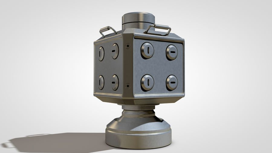 Scifi Container royalty-free 3d model - Preview no. 5
