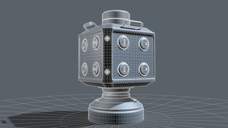 Scifi Container royalty-free 3d model - Preview no. 7