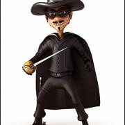 The Zorro Cartoon 3d model