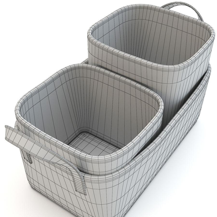 ジュート収納バスケットのトリオ royalty-free 3d model - Preview no. 6