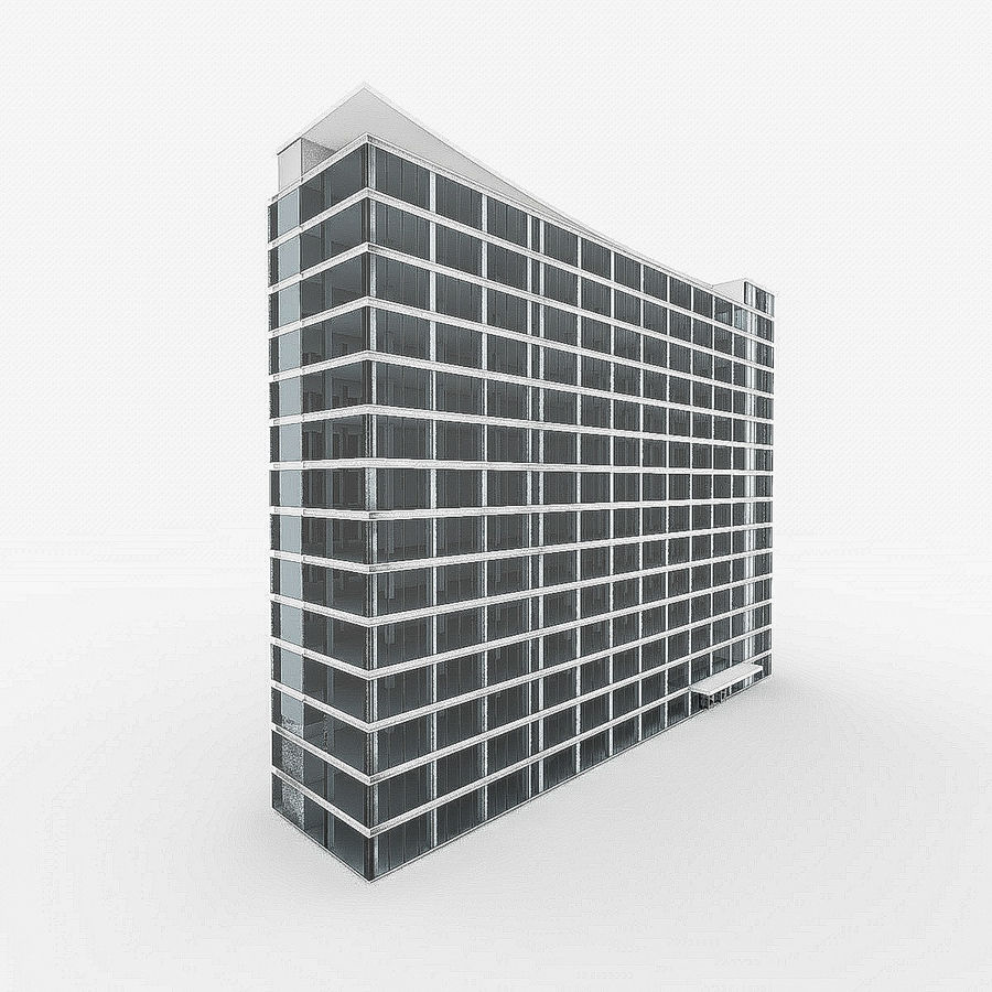 City Office Building 4 royalty-free 3d model - Preview no. 5