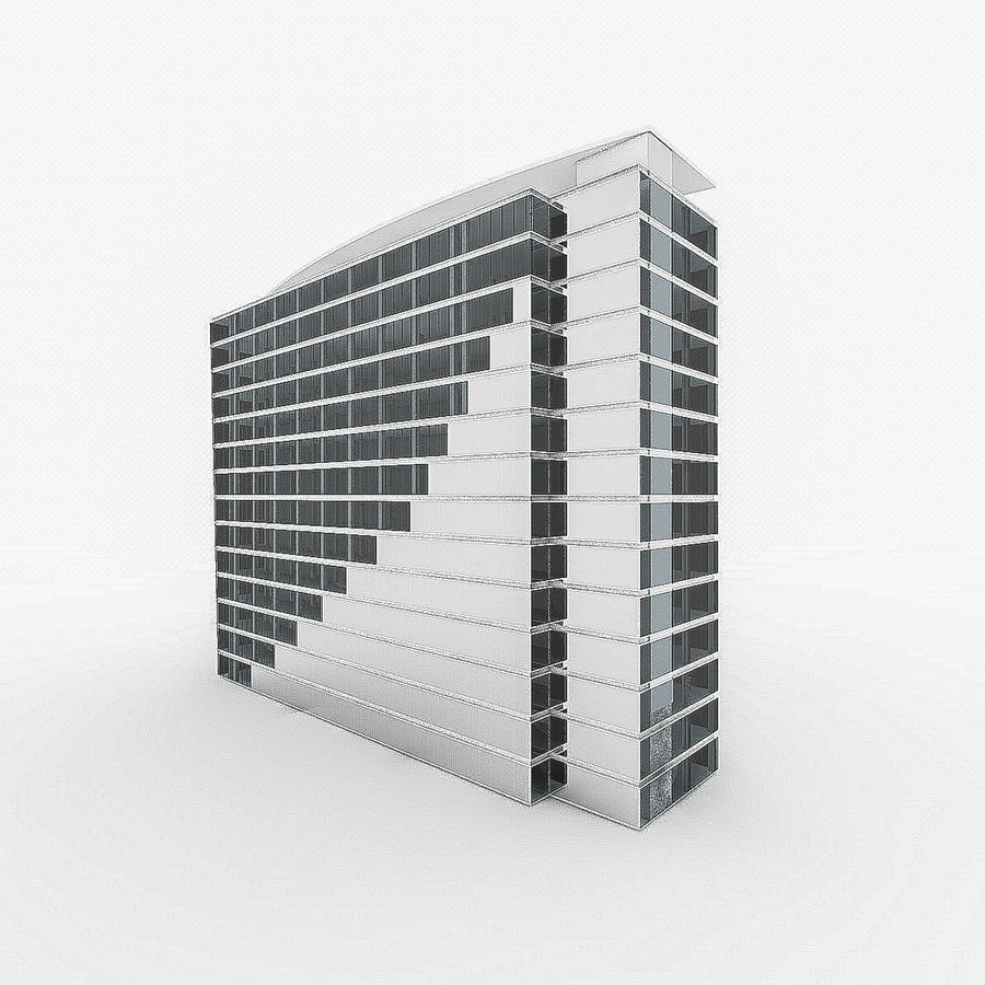 City Office Building 4 royalty-free 3d model - Preview no. 4
