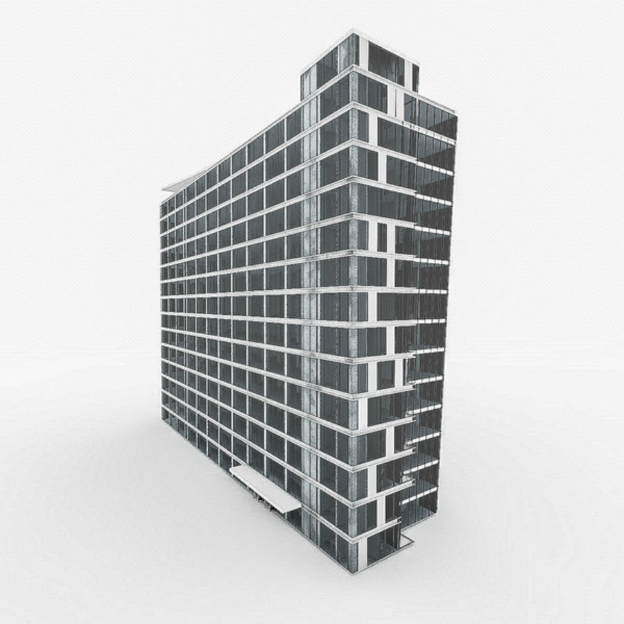 City Office Building 4 royalty-free 3d model - Preview no. 2