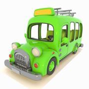 Toon Minibus 2 3d model