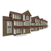 Modular Townhouses Complex 3d model