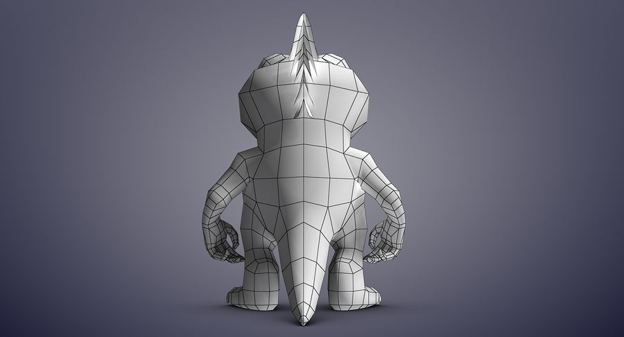 Dragon (Rig) royalty-free 3d model - Preview no. 14