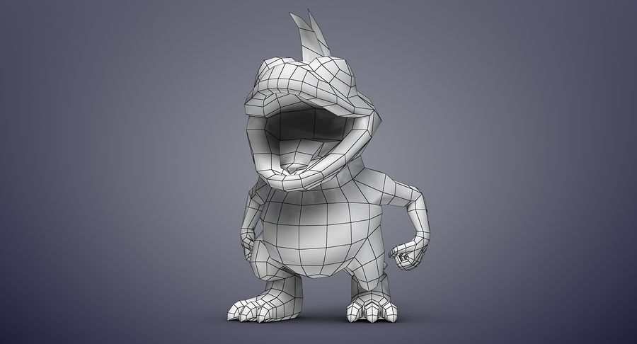 Dragon (Rig) royalty-free 3d model - Preview no. 18