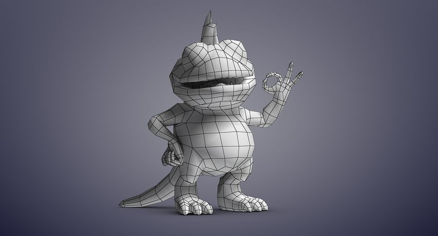 Dragon (Rig) royalty-free 3d model - Preview no. 21