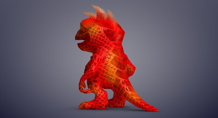 Dragon (Rig) royalty-free 3d model - Preview no. 5