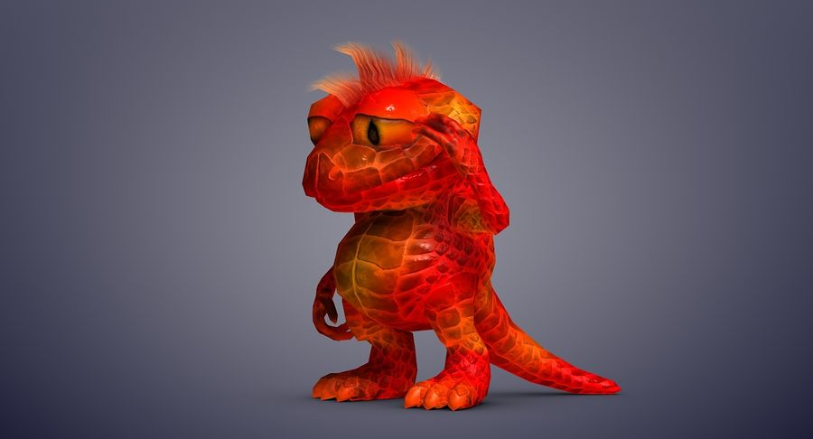 Dragon (Rig) royalty-free 3d model - Preview no. 10