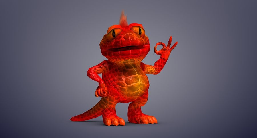 Dragon (Rig) royalty-free 3d model - Preview no. 11