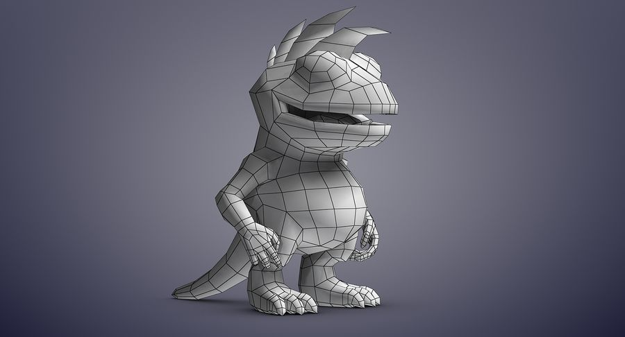 Dragon (Rig) royalty-free 3d model - Preview no. 13