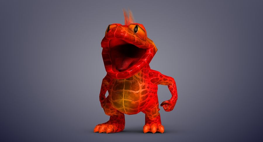 Dragon (Rig) royalty-free 3d model - Preview no. 8