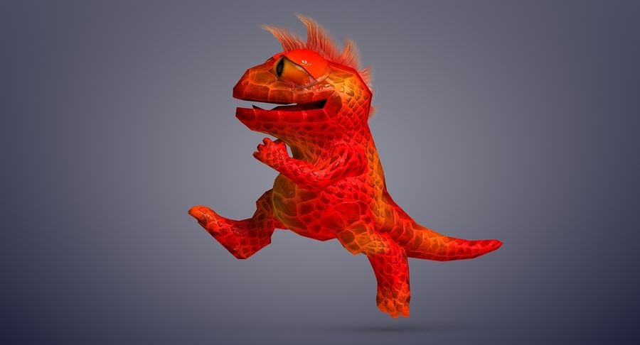 Dragon (Rig) royalty-free 3d model - Preview no. 12