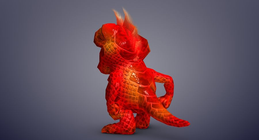 Dragon (Rig) royalty-free 3d model - Preview no. 9