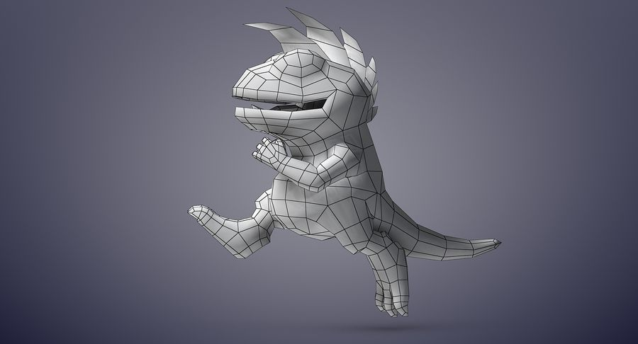 Dragon (Rig) royalty-free 3d model - Preview no. 22
