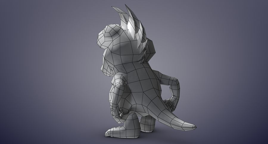 Dragon (Rig) royalty-free 3d model - Preview no. 19
