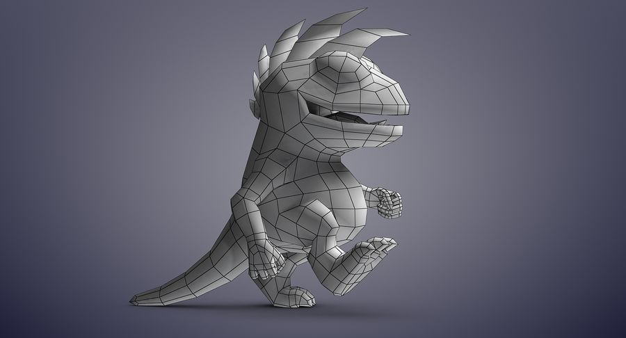 Dragon (Rig) royalty-free 3d model - Preview no. 17