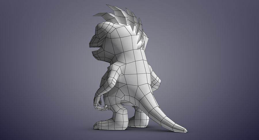 Dragon (Rig) royalty-free 3d model - Preview no. 15
