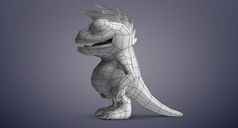 Dragon (Rig) royalty-free 3d model - Preview no. 16