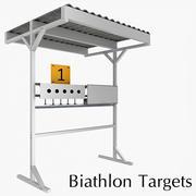 Biathlon-Ziele 3d model