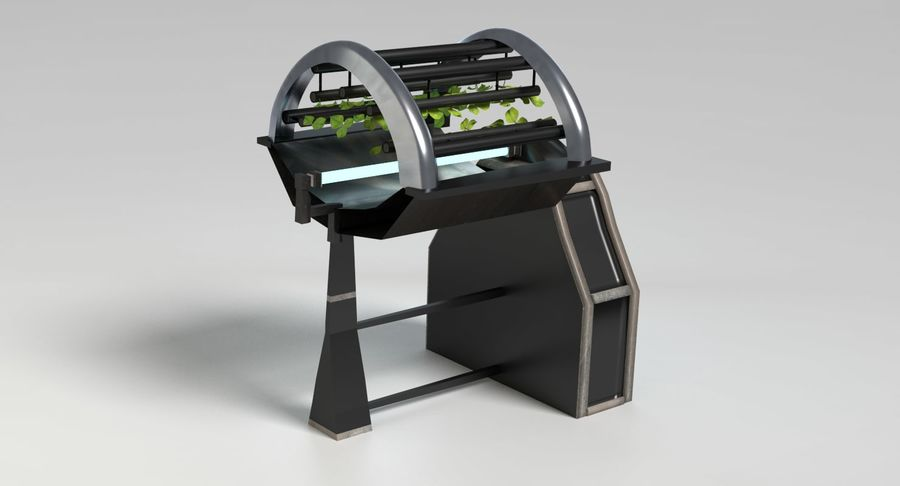 Sci-fi Hydroponics royalty-free 3d model - Preview no. 4