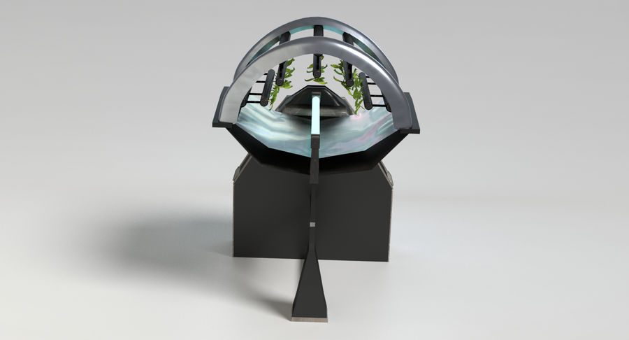 Sci-fi Hydroponics royalty-free 3d model - Preview no. 5