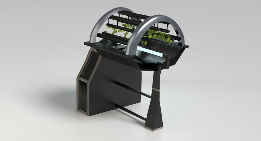 Sci-fi Hydroponics royalty-free 3d model - Preview no. 6