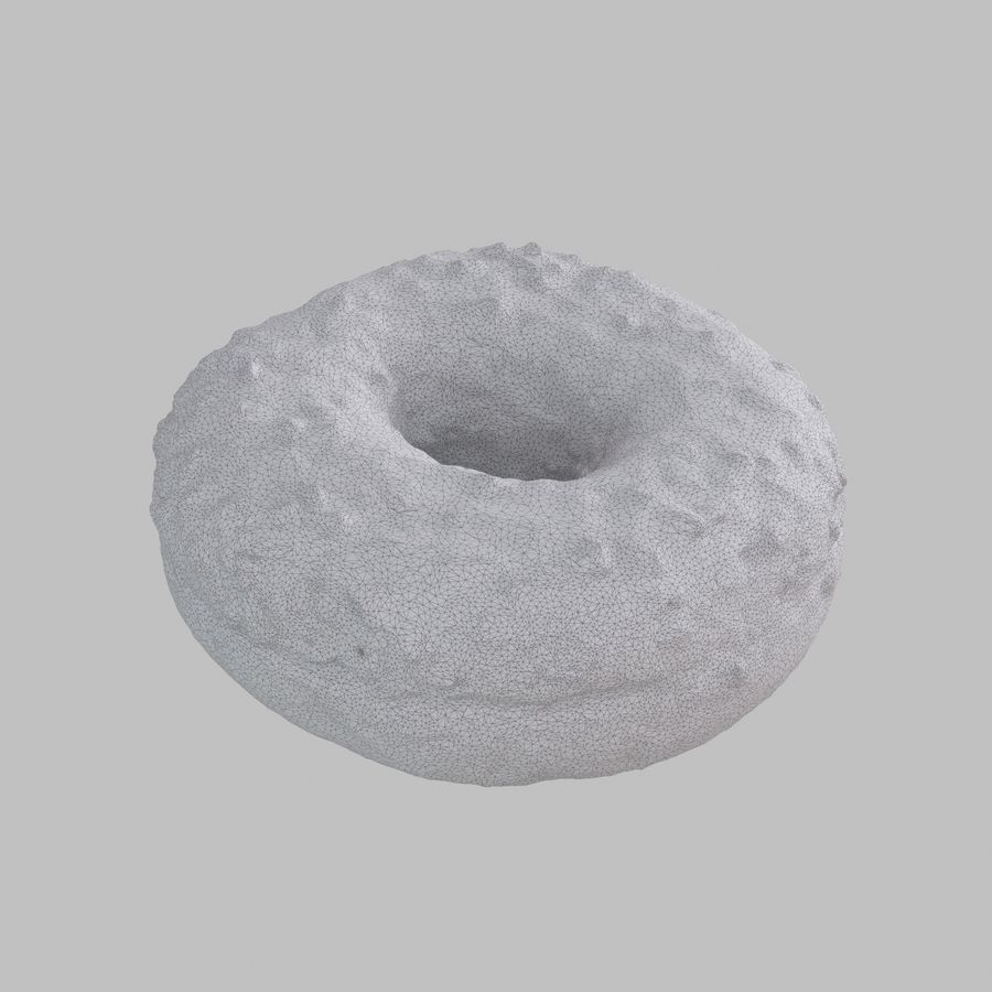 Chocolate Donut royalty-free 3d model - Preview no. 9