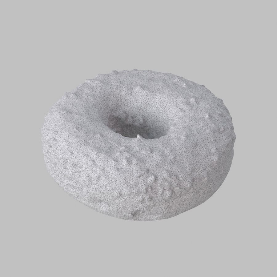 Chocolate Donut royalty-free 3d model - Preview no. 7
