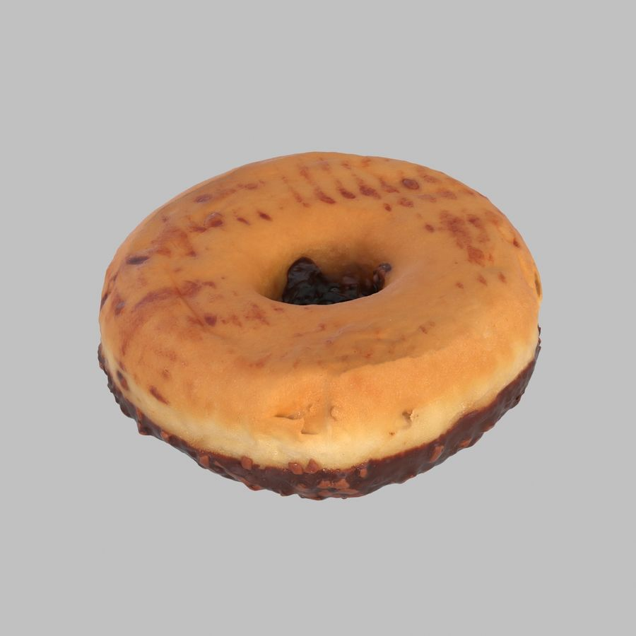 Chocolate Donut royalty-free 3d model - Preview no. 5