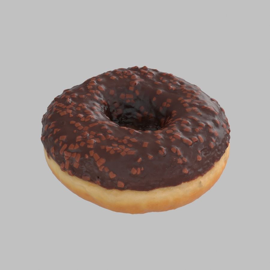 Chocolate Donut royalty-free 3d model - Preview no. 4
