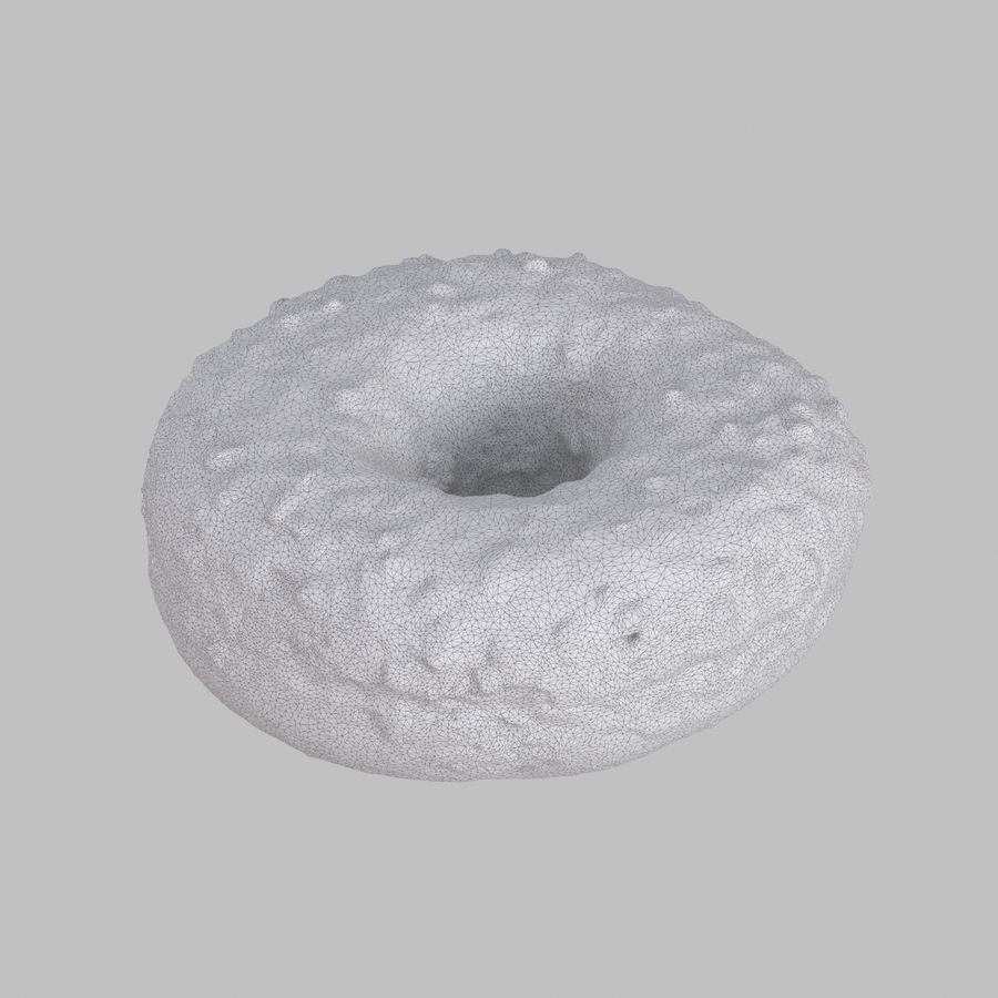 Chocolate Donut royalty-free 3d model - Preview no. 6