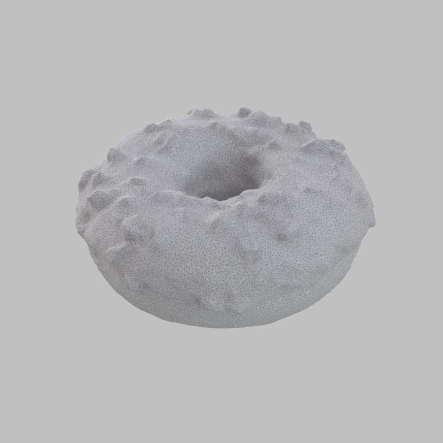 Christmas Frosting White Chocolate Donut royalty-free 3d model - Preview no. 8