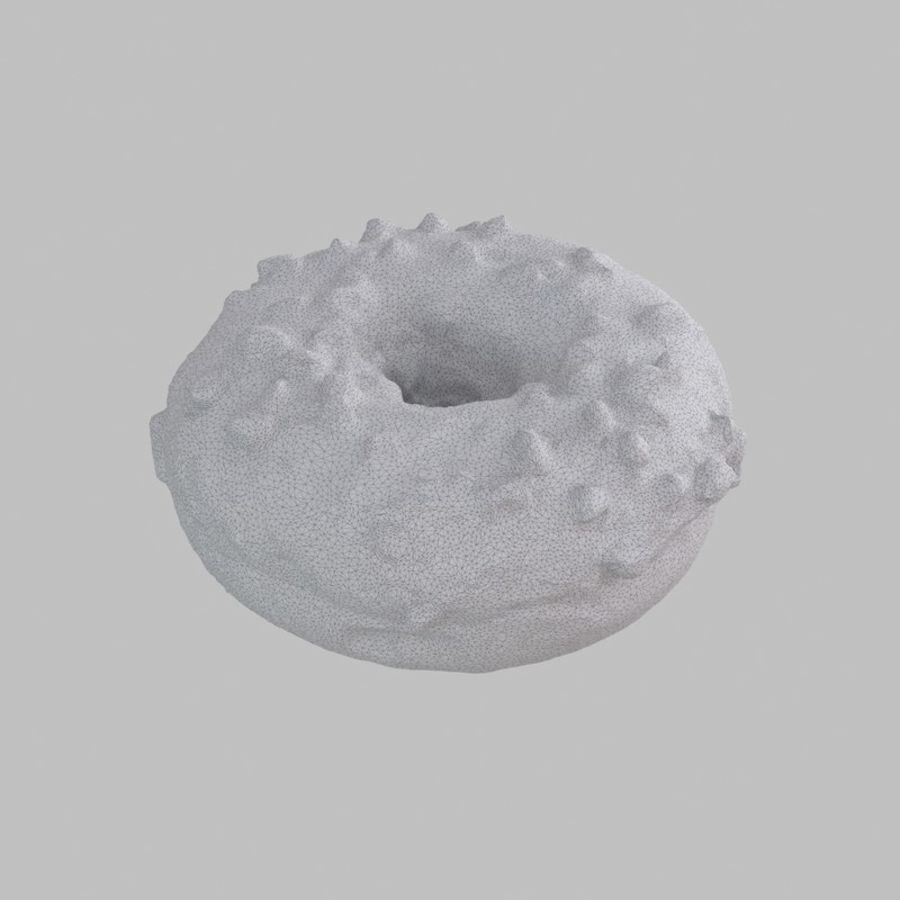 Christmas Frosting White Chocolate Donut royalty-free 3d model - Preview no. 9
