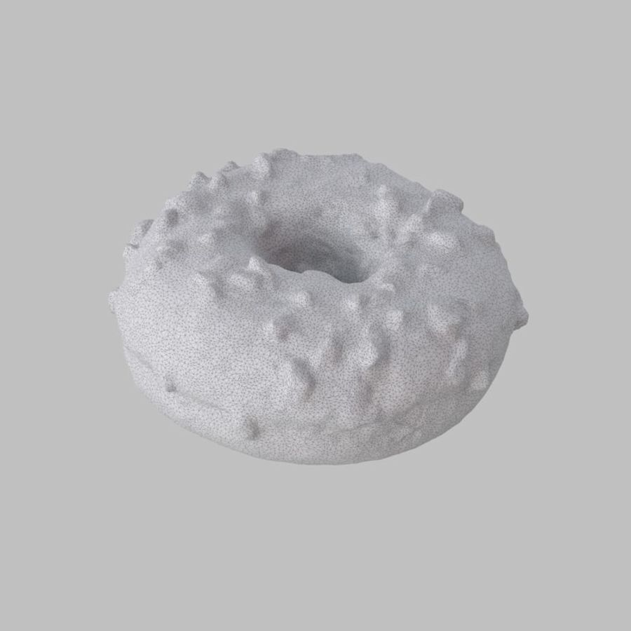 Christmas Frosting White Chocolate Donut royalty-free 3d model - Preview no. 7