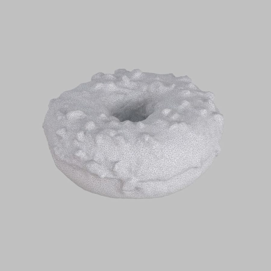 Christmas Frosting White Chocolate Donut royalty-free 3d model - Preview no. 6